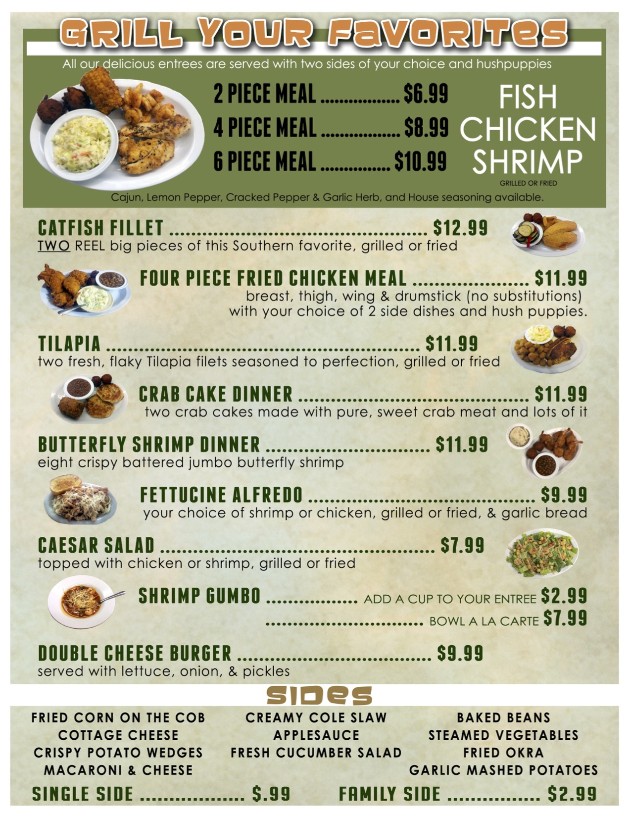 Catfish Kettle Back Menu